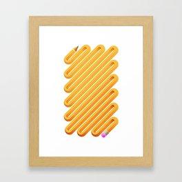 Curved Pencil Framed Art Print