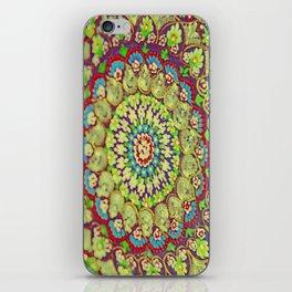 Mandala on copper plate 4 iPhone Skin