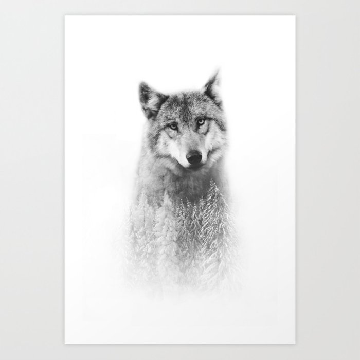 The Wolf and the Forest Art Print