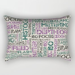 Photography Terms Word Pattern Rectangular Pillow