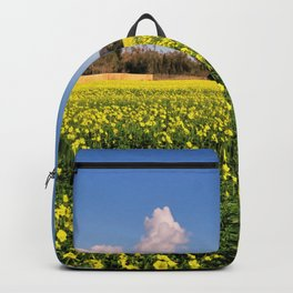 yellow flower meadow Backpack
