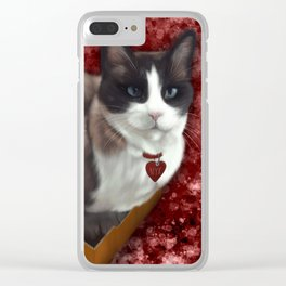 Snowshoe Love Clear iPhone Case