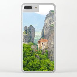 Christian Orthodox monastery of Meteora, Greece Clear iPhone Case