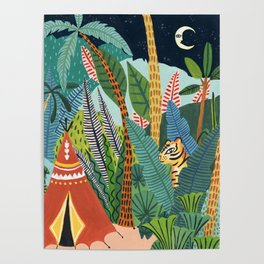 Jungle Tipi Tiger Poster
