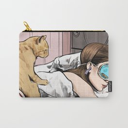 Holly Golightly the cat with no name - Audrey Hepburn in Breakfast at Tiffany's Carry-All Pouch