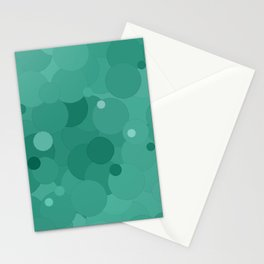 Lucite Green Bubble Dot Color Accent Stationery Cards