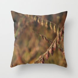 RUSTIC MEADOW warm earth tones captured by golden hour light Throw Pillow