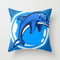The Ecco Dolphins Throw Pillow