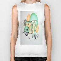 vespa Biker Tanks featuring Vespa  by Melissa Rodriguez