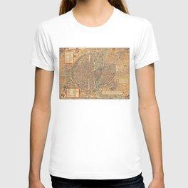 Vintage Map of Paris (1575) T-shirt