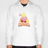 kirby Hoodies featuring Kirby Normal by likelikes