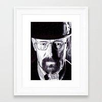 heisenberg Framed Art Prints featuring Heisenberg  by DeMoose_Art