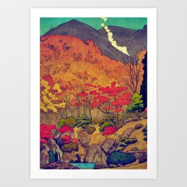 Autumn Baths in Kaanaii Art Print