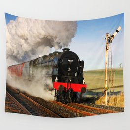 46115 Scots Guardsman Steaming Through Hellifield Wall Tapestry