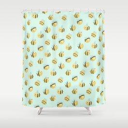 Cute bee design Shower Curtain