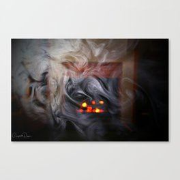 Painting with Smoke - The Eye of Wisdom Canvas Print