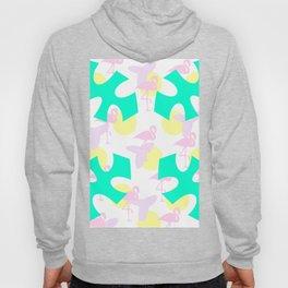 Flamingo vibrant motif Hoody