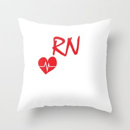 Funny Registred Nurse EaRNed not G Design Graduation Gifts product Throw Pillow
