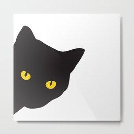 Beautiful black cat Metal Print