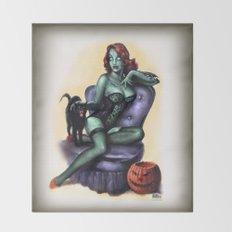 Halloween Zombie Girl Pin Up Throw Blanket