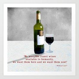 Glass of Wine Art Print