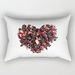 petals tea formed in heart shape Rectangular Pillow