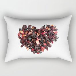 petals tea formed in heart shape Rectangular Pillow