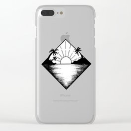 Triangle paradis Clear iPhone Case
