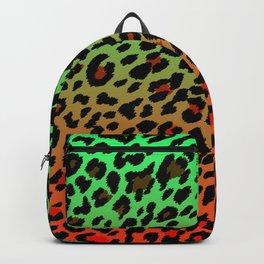Green/Orange Cheetah Print Backpack