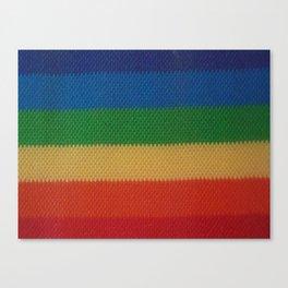 Rainbow Weaved Stripes Canvas Print