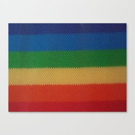 Rainbow Weaved Stripes Canvas Print