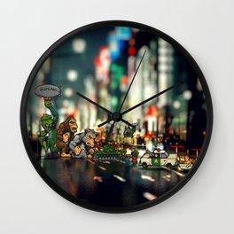 Rampage game - Pixel art Wall Clock