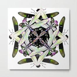 Dragonfly Cluster Metal Print