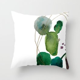 Bright Abstract Watercolor Throw Pillow