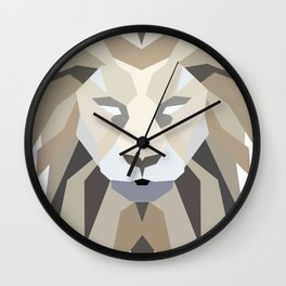 Polygonal Lion Wall Clock