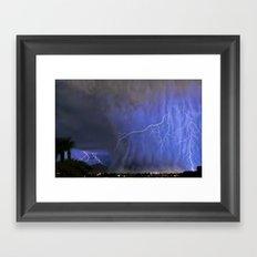Monsoon Tempest Over Scottsdale, Arizona Framed Art Print
