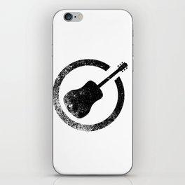 Acoustic Guitar Ink Stamp iPhone Skin