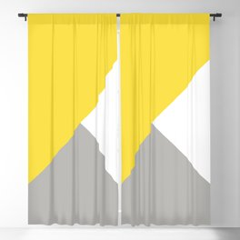 Triangles in Illuminating Yellow and Ultimate Gray Blackout Curtain