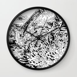 Lake Monster Wall Clock