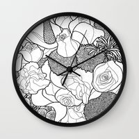 tapestry Wall Clocks featuring Tapestry by Madame Mim