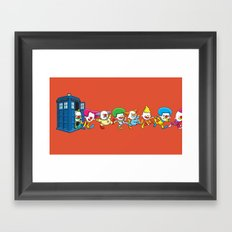Clown Tardis Variant Framed Art Print