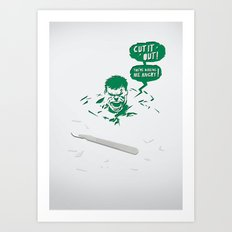Cut It Out - Anger Art Print