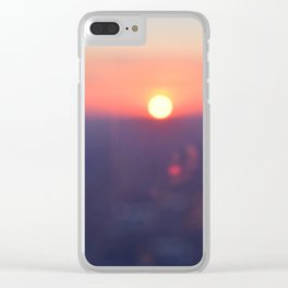 Sunset on Chicago Clear iPhone Case