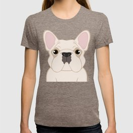 Frenchie - Cream T-shirt