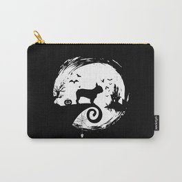 French Bulldog Halloween Costume Moon Silhouette Carry-All Pouch