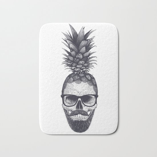 Tropical skull Bath Mat