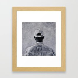 Denim Jacket Framed Art Print