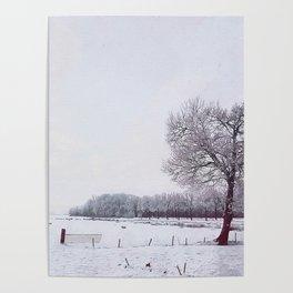 Winter landscape in the Netherlands - Digital Art Poster