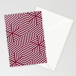 Oxblood - purple - Minimal Vector Seamless Pattern Stationery Cards