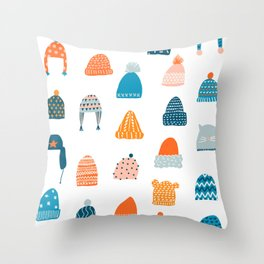 Winter hats Throw Pillow